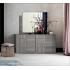 Commode 8 tiroirs 180 cm x 82 cm x 48 cm - Chêne gris scié