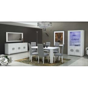 Buffet design LUX laqué - Blanc