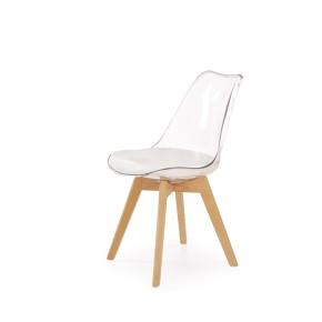 Lot de 2 chaises design - Hêtre/Transparent