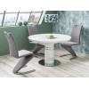 Table à manger ronde extensible : 120 ÷ 160 cm x 120  cm x 76 cm
