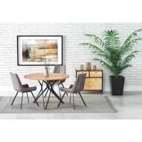 Table à manger ronde Ø : 120 cm x 76 cm