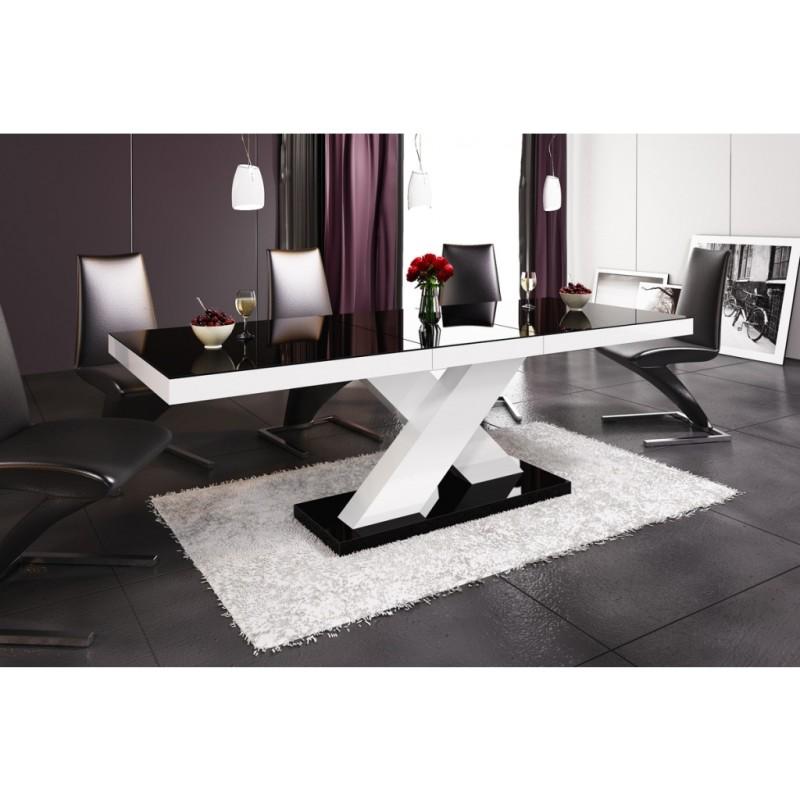 Table à manger extensible 160 cm ÷ 210 cm x 89 cm x 75 cm - Noir