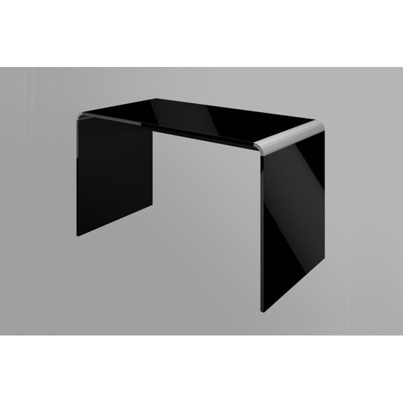 Bureau laqué 99 cm x 65 cm x 72 cm - Noir