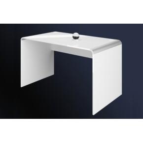 Bureau laqué 99 cm x 65 cm x 72 cm - Blanc