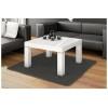 Table basse design 80 cm x 80 cm x 48 cm - blanc